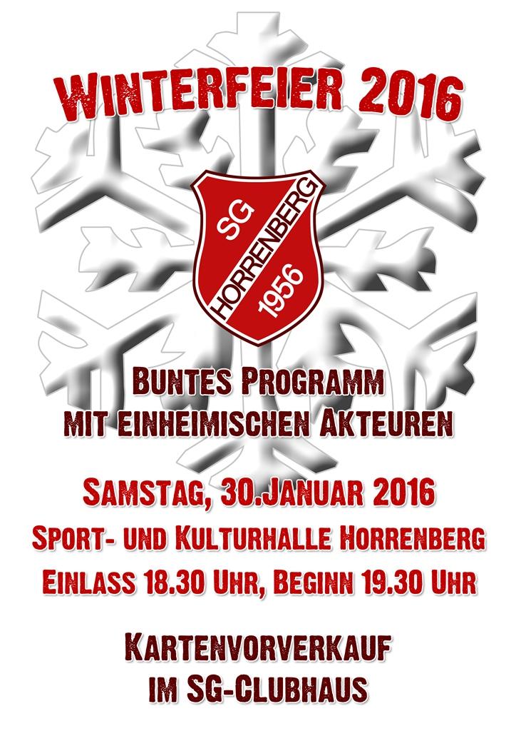 Winterfeier2016 SG Horrenberg