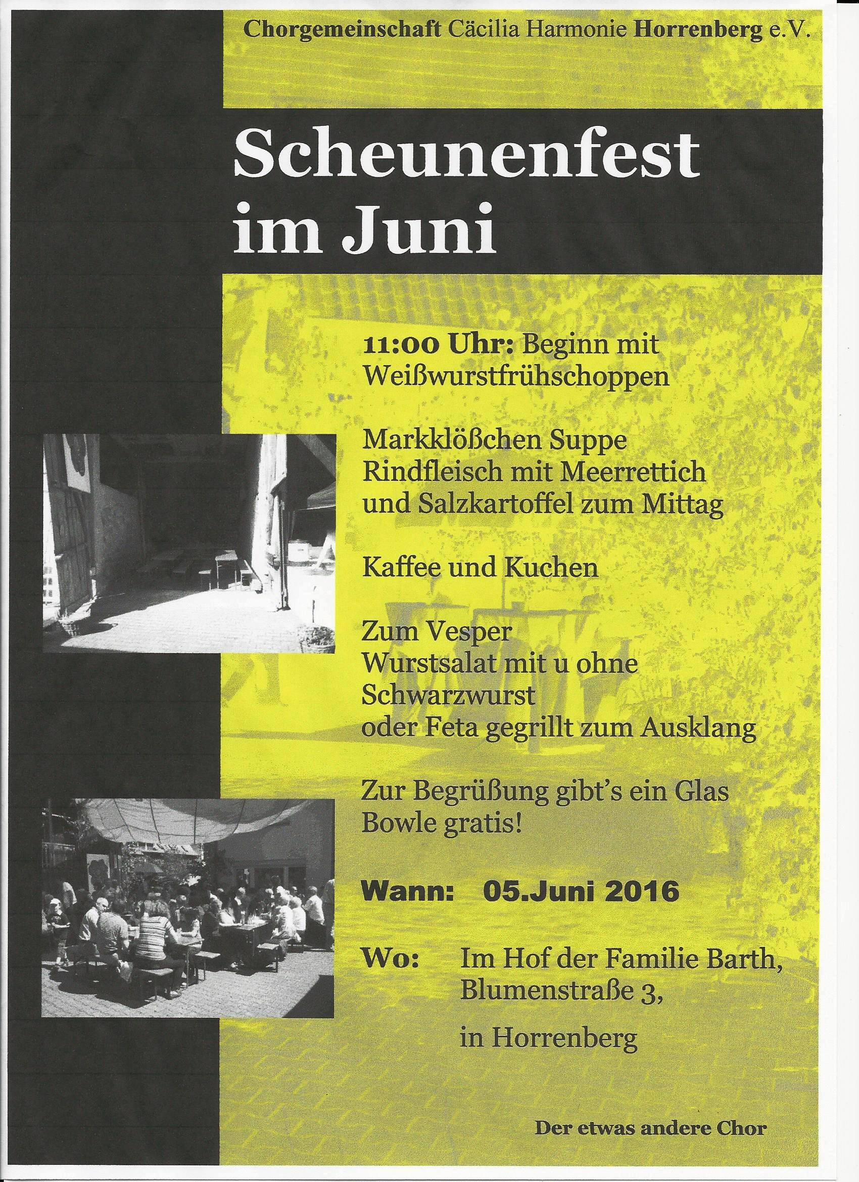 Scheunenfest Plakat in JPEG