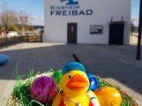 Ostereiersuche im Freibad Sinsheim