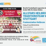 Grosse Ereignisse werfen ihre Schatten voraus – Benefiz Fußball in Heilbronn