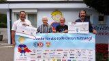 """Benefiz-Spiel gegen VfB Stuttgart Oldstars erspielt 19.000 Euro für """"kleine Helden"""""""