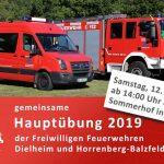 Gemeinsame Jahres-Hauptübung der FFw Dielheim-Horrenberg-Balzfeld
