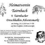Tairnbacher Dreschhallen – Adventsmarkt nur am Freitagabend