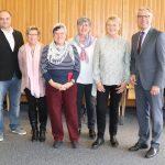 Landrat Dallinger verabschiedet vier Mitarbeiterinnen in den Ruhestand