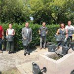 Wiesloch: Fünf neue Brunnen und fünfzig gespendete Gießkannen für den Hauptfriedhof