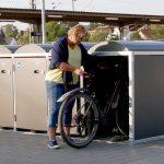 AVG installiert neue Fahrrad-Boxen am Bahnhof Eppingen