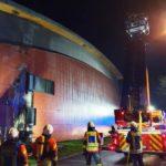 Angelbachtal: Zunächst Rauchentwicklung dann offenes Feuer an der Sonnenberghalle …