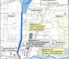 Ausbau Leimbach-Oberlauf Maßnahme 3.3 – Hochwasserschutz am Leimbach in Wiesloch wird hergestellt